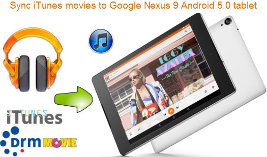 Sync iTunes movie to Nexus 9 Android 5.0 tablet