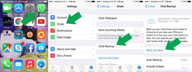 chat backup whatsapp iphone 4